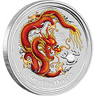2012 Dragon Colored 5 oz Silver from The Perth Mint