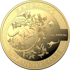 2018 Kangaroo 1oz Gold Proof 25th Anniversary Coin