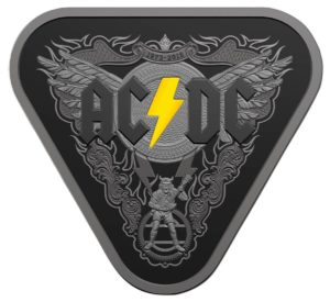 AC / DC 45 Years of Thunder Silver Proof Nickel Plated Coin