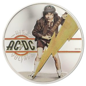 AC / DC  High Voltage 1/2 oz Silver Coin