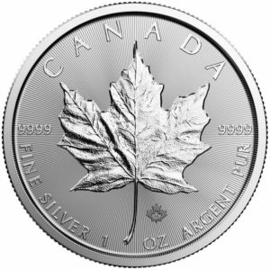 2019 Canadian Maple 1oz Silver Bullion Coin