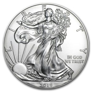 2019 U S Eagle 1oz Silver Bullion Coin