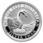 2019 Swan Silver 1oz Bullion Coin