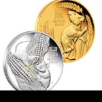 2020 Mouse silver and gols coins