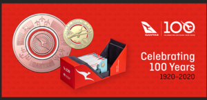 Qantas 100 Years Coin Set