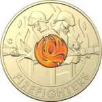"2020 Firefighters $2 Colored ""C"" Mintmark Coin"