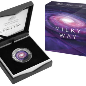 2021 Milky Way 1oz Silver Colored Coin